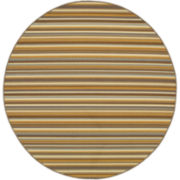 Stripe Indoor/Outdoor Round Rug