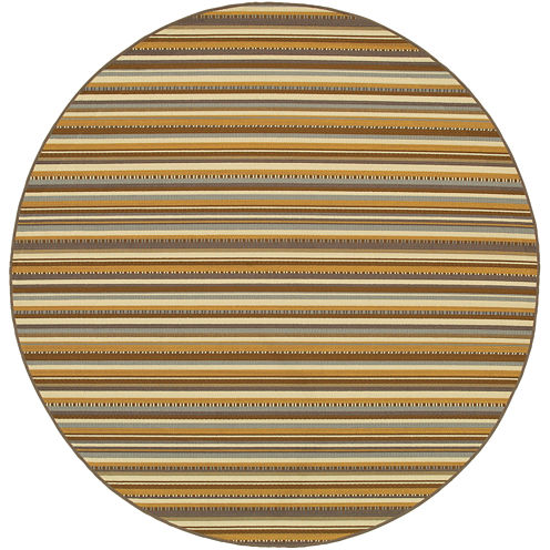 Covington Home Stripe Indoor/Outdoor Round Rug