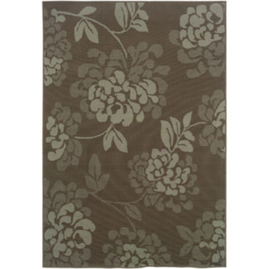 jcpenney.com | Covington Home Shadow Floral Indoor/Outdoor Rectangular Rug