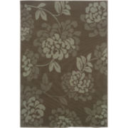 Shadow Floral Indoor/Outdoor Rectangular Rug