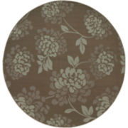Shadow Floral Indoor/Outdoor Round Rug