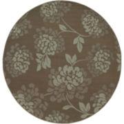 Shadow Floral Indoor/Outdoor Round Rug