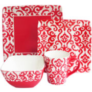 Waverly Damask 16-pc. Dinnerware Set