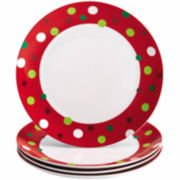 Rachael Ray® Hoot's Set of 4 Dinner Plates – Dots