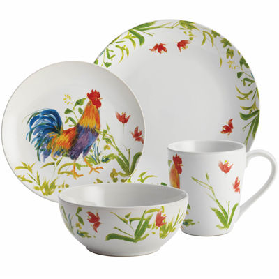 BonJour® Meadow Rooster 16-pc. Dinnerware Set  sc 1 st  JCPenney & BonJour Meadow Rooster 16 pc Dinnerware Set