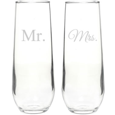 jcpenney.com | Mr. & Mrs. Set of 2 Champagne Toasting Flutes