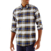 St. John's Bay® Long-Sleeve Patterned Oxford Shirt