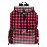 Olsenboye® Pink Buffalo Sequined Plaid Backpack