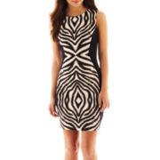 Bisou Bisou® Sleeveless Print Colorblock Dress