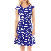 Worthington® Cap-Sleeve Fit-and-Flare Dress