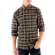 St. John's Bay® Long-Sleeve Patterned Oxford Shirt