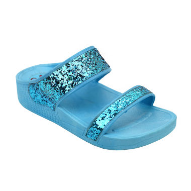 jcpenney.com | OMGirl Amberlee Girls Double-Strap Glitter Molded Sandals - Little Kids
