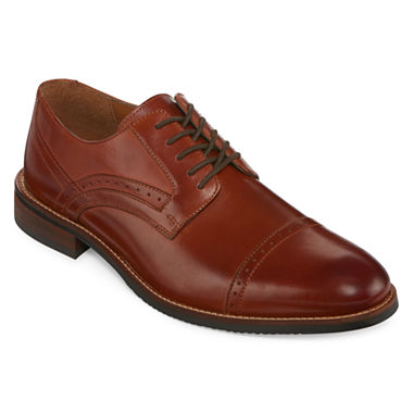 Stafford® Murphy Mens Leather Cap-Toe Dress Oxford Shoes - JCPenney