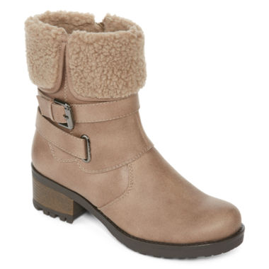 jcpenney.com | St. John's Bay® Bailyn Faux Shearling Booties