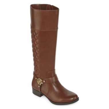 jcpenney.com | Liz Claiborne® Trina Quilted Riding Boots