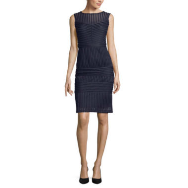 jcpenney.com | J. Taylor Sleeveless Scuba Sheath Dress
