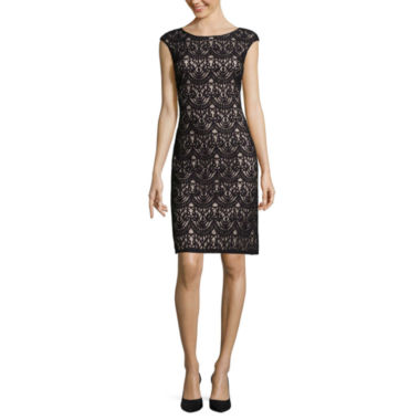 jcpenney.com | Jessica Howard Cap-Sleeve Lace Shift Dress