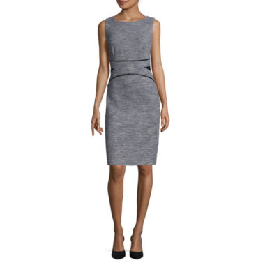 jcpenney.com | Liz Claiborne® Sleeveless Faux Leather-Waist Sheath Dress