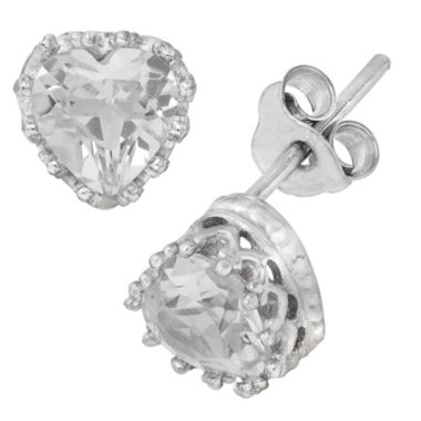 jcpenney.com | Sterling Silver Lab Created White Sapphire Crown Earrings