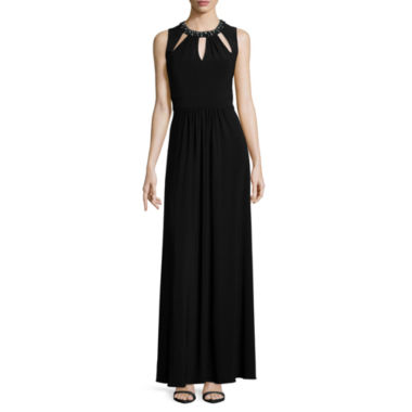 jcpenney.com | Scarlett Sleeveless Jeweled-Neck Long Dress - Tall