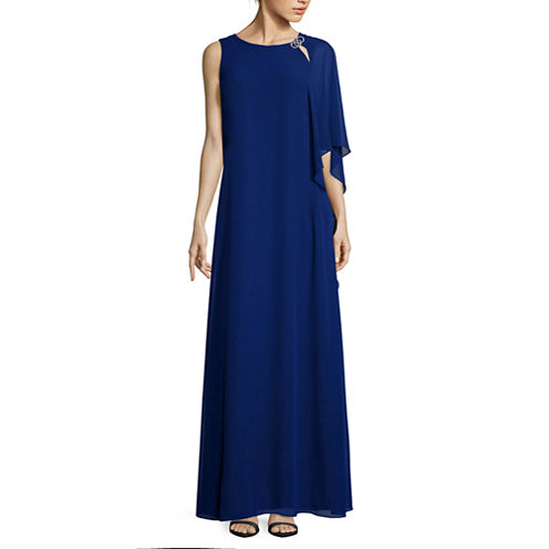 Scarlett One-Shoulder Chiffon Long Dress - Tall