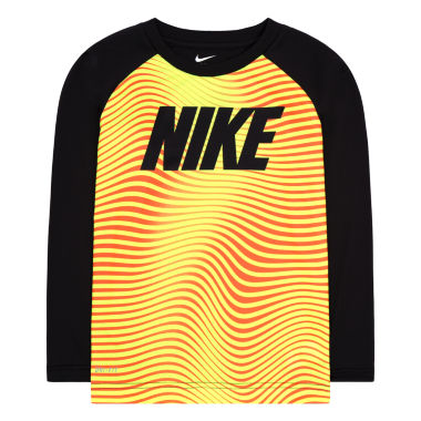 jcpenney.com | Nike® Dri-FIT Long-Sleeve Wave Striped Top - Toddler Boys 2t-4t