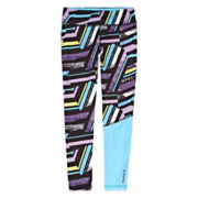 Reebok® Stripe Leggings - Girls