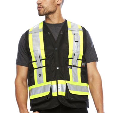 jcpenney.com | Work King® High Visibility Surveyor Vest - Big & Tall