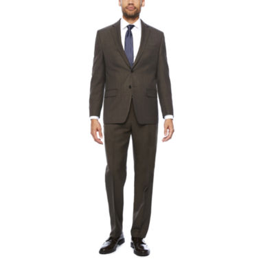 jcpenney.com | Collection by Michael Strahan Brown Sharkskin Classic Fit Suit Separates