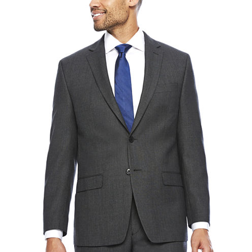 Collection by Michael Strahan Charcoal Neat Jacket