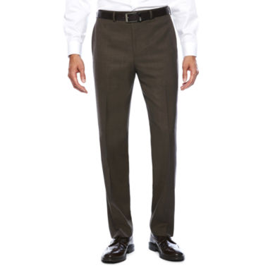 jcpenney.com | Collection by Michael Strahan Brown Sharkskin Classic Fit Pants