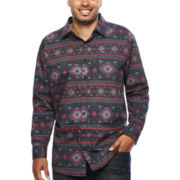 Zoo York® Long-Sleeve Aztec Print Woven Shirt - Big & Tall