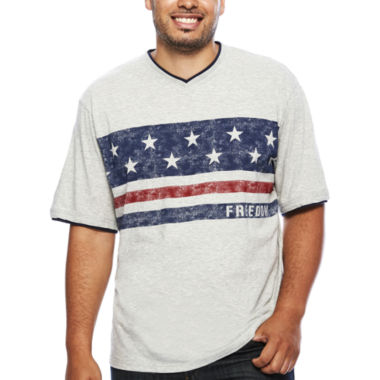 jcpenney.com | Lee® Short-Sleeve Freedom Tee - Big & Tall
