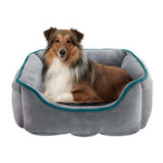 """Soft Touch 24x34"""" Brody Cuffed-Box Pet Bed"""