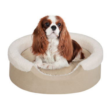 "jcpenney.com | Soft Touch 18x14"" Lucky Oval Pet Cuddler with Cushion"