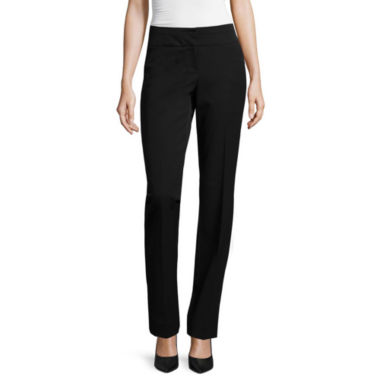 jcpenney.com | Worthington® Modern Straight-Leg Super-Stretch Trousers - Petite