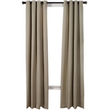 jcpenney.com | Boiler Plate Textured Grommet-Top Curtain Panel