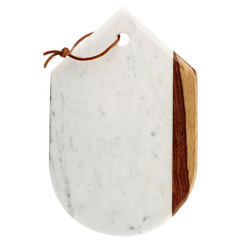 Thirstystone® Urban Farm White Marble Pointed Oval Board