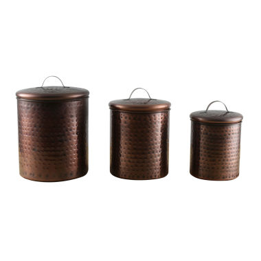 jcpenney.com | Thirstystone® Urban Farm Hammered Antique Copper 3-pc.Canister Set