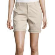 Stylus™ Boyfriend Twill Bermuda Shorts