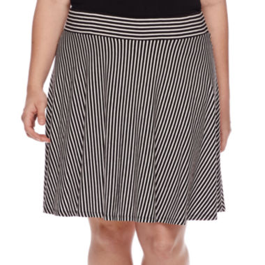 jcpenney.com | Decree® Knit Skater Skirt - Juniors Plus