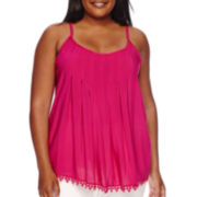 Stylus™ Pleated Lace Cami