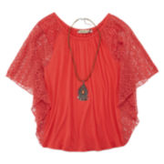 Speechless® Circle Top with Necklace - Girls 7-16