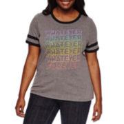 Arizona Short-Sleeve Graphic Ringer Tee - Juniors Plus