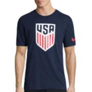 Nike® Short-Sleeve USA Crest Cotton Tee