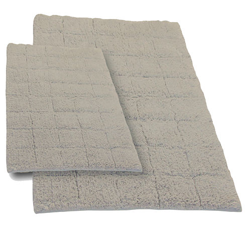 Castle Hill London Summer Tile 2-pc. Bath Rug Set