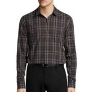 JF J. Ferrar® Long-Sleeve Woven Dress Shirt