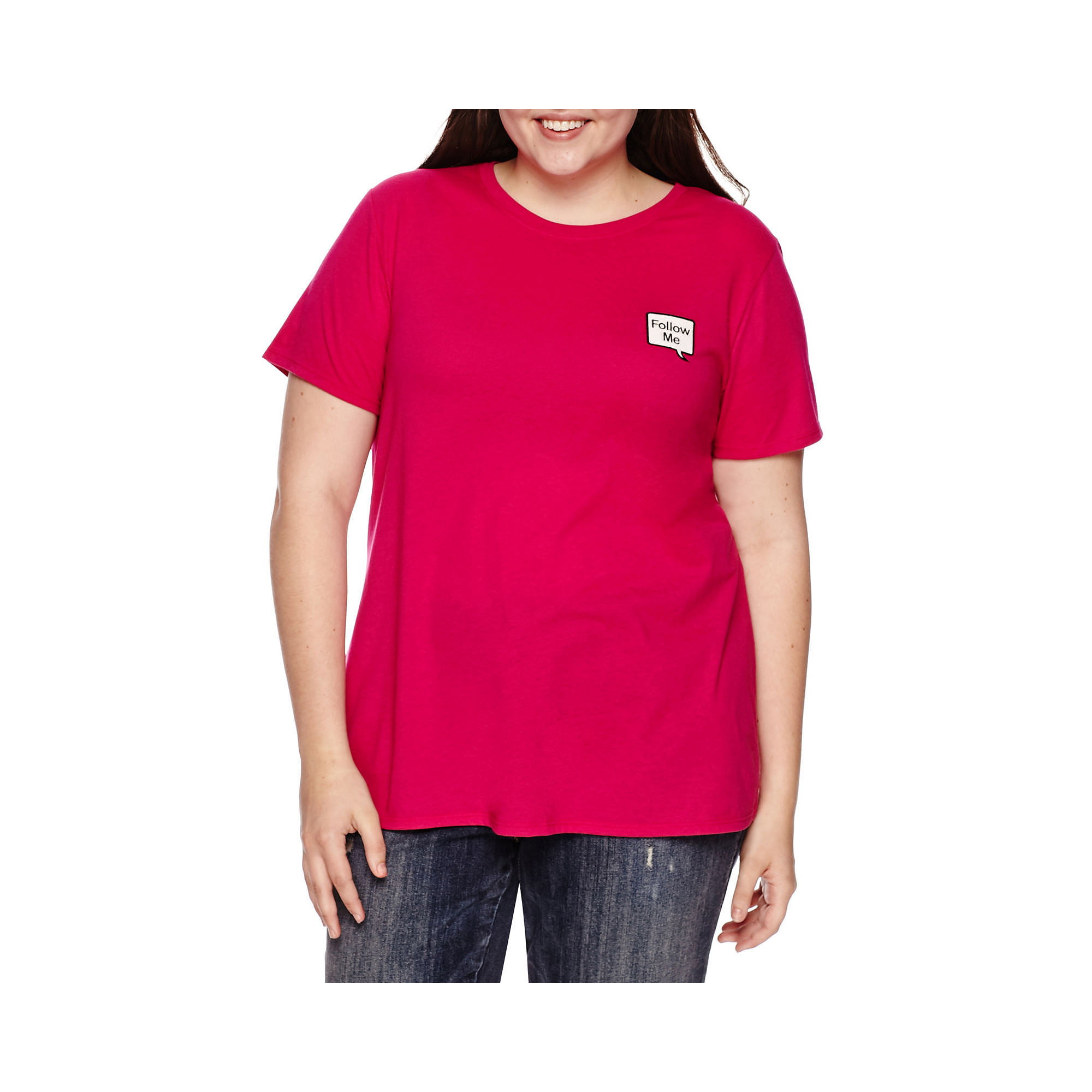 Arizona Short-Sleeve Screen Tee - Juniors Plus plus size,  plus size fashion plus size appare