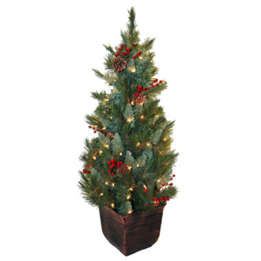 jcpenney.com | 4' Pre-Lit Potted Christmas Tree