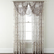 Royal Velvet® Alona Rod-Pocket Sheer Waterfall Valance